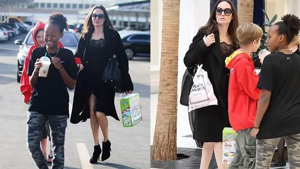 Анджелина Джоли вместе с дочерьми