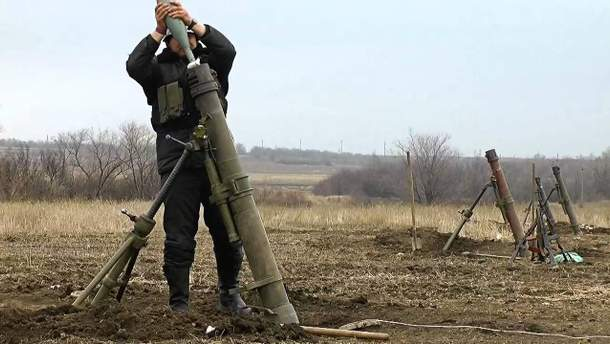 Боевики осуществляют обстрелы из 120-мм минометов