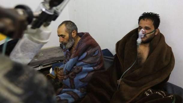 На сирийский город сбросили газовую бомбу, есть пострадавшие