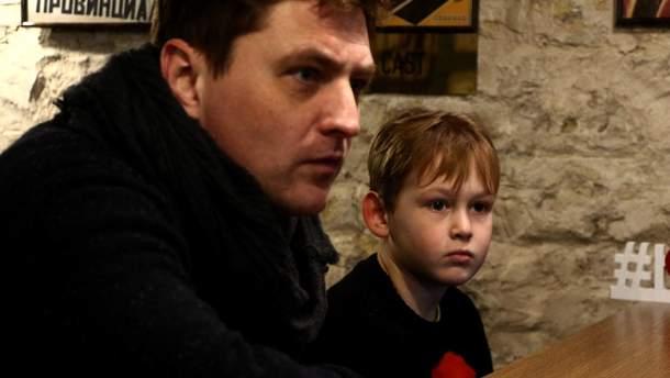 В'ячеслав Довженко з сином Васильком