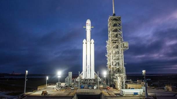Запуск ракеты Falcon Heavy от SpaceX