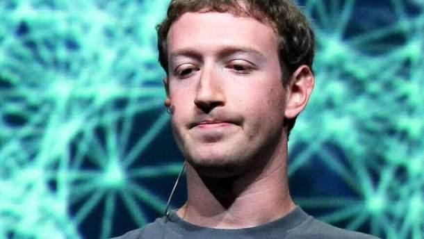 Глава та засновник Facebook Марк Цукерберг