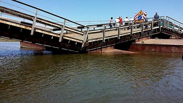 Міст російських військових пішов під воду: промовисті фото з космосу