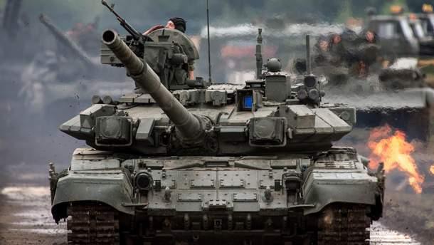 В Крыму заметили колонну военной техники вооруженных сил РФ