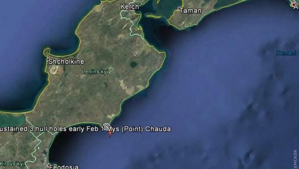 У берегов оккупированного Крыма затонуло судно
