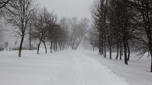 Украина страдает от снегопадов