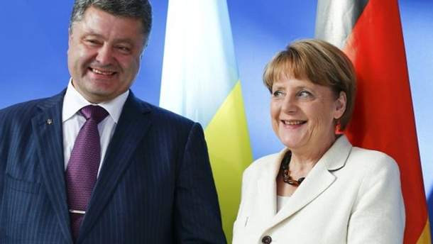 Порошенко поговорит с Меркель