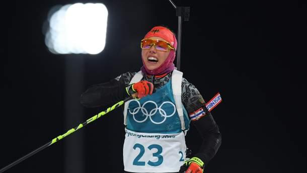 Олимпиада-2018: первое золото в биатлоне выиграла Дальмайер