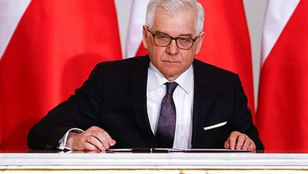 """Глава МЗС Польщі заявив, що сподівається на вирішення """"історичної суперечки"""" з Україною"""