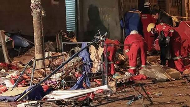 Взрыв на карнавале в Боливии
