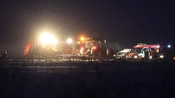 Рятувально-пошукові роботи на місці падіння АН-148 у Підмосков'ї