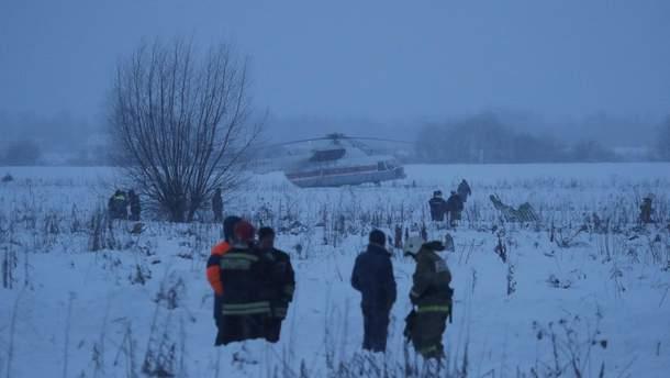 Спасательно-поисковые работы на месте падения Ан-148 в Подмосковье