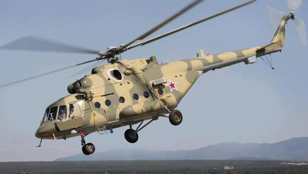 У Росії після аварійної посадки загорівся вертоліт