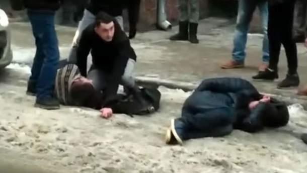 Массовая драка во Львове