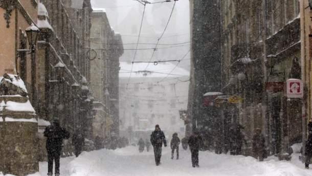 Прогноз погоды в Украине на 13 февраля