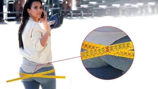 Ким Кардашян обнародовала цифры своих параметров