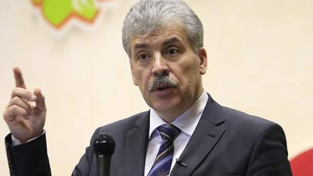 """Грудинин заявил, что признает """"Л/ДНР"""" после победы на выборах"""
