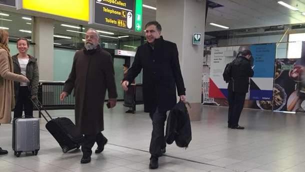 Саакашвили уже в Амстердаме