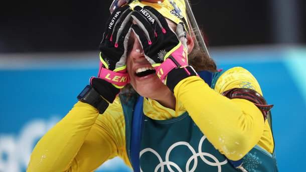 Олимпиада-2018: Ханна Эберг победила в индивидуальной гонке по биатлону