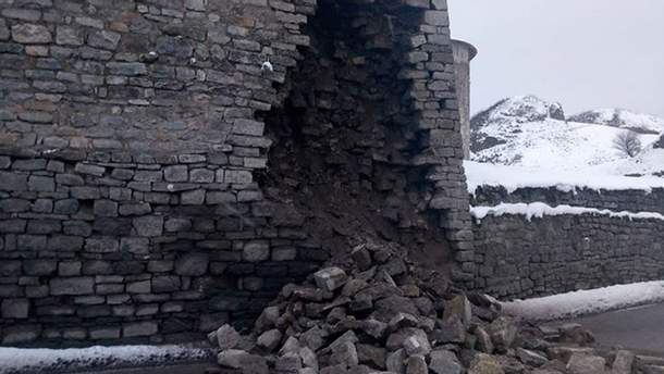 Обвал крепости в Каменец-Подольском