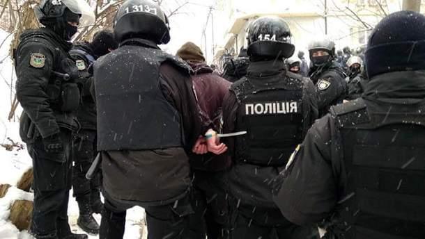 Сутички під будівлею суду при розгляді справи Труханова
