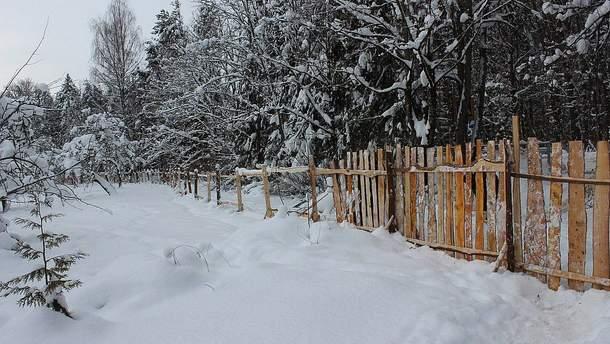 Забор из обапола под Псковом