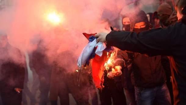"""Акция под офисом """"Россотрудничества"""" в Киеве"""