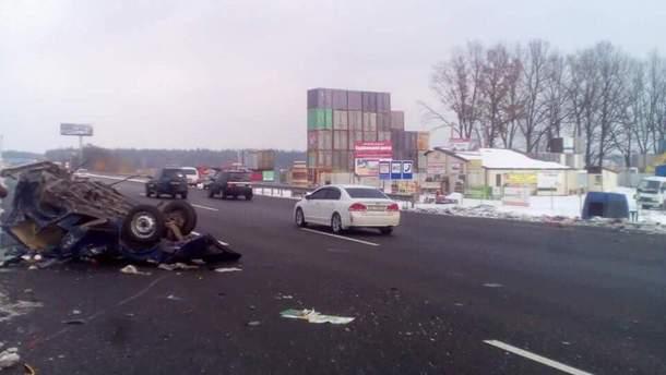 Последствия смертельного ДТП под Киевом