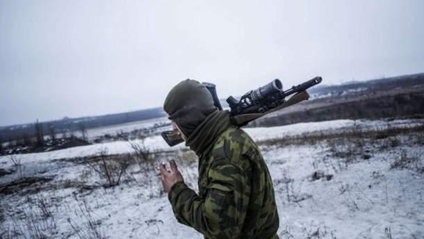 Вследствие провокаций боевиков ранен 1 украинский воин