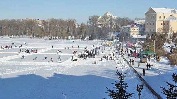 Пруд в Тернополе