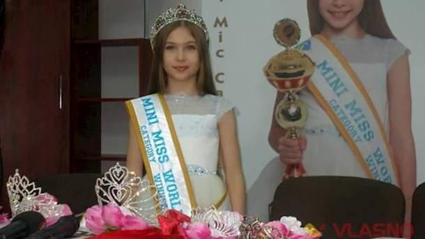Россияне незаконно использовали фотографию украинской Мини-мисс мира Дарьи Журбенко