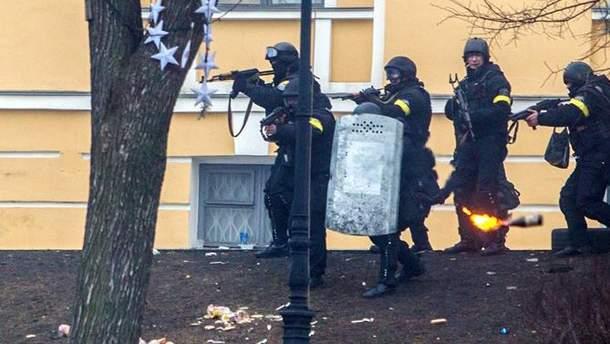 """Бойцы """"Беркута"""", 20 февраля 2014"""