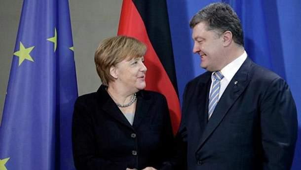 Порошенко і Меркель обговорили Мінські угоди і звільнення заручників