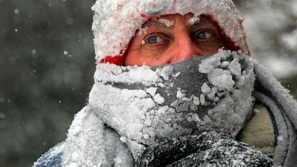 Через люті морози і Україні оголосили штормове попередження