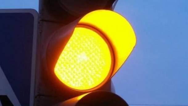 Светофоры в Днепре не работают из-за непогоды