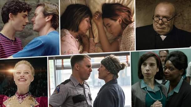 """Фільми-номінанти на премію """"Оскар-2018"""""""