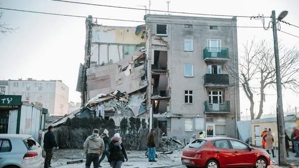 Обвал будинку у Польщі