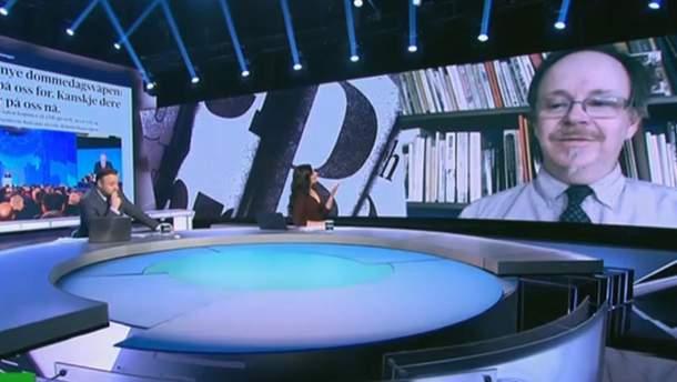 Деніел Патрік Велш у ефірі Кремль ТБ