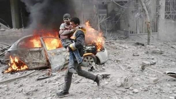 Жертви бомбардувань у Східній Гуті