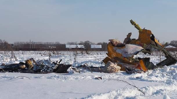 Место падения самолета Ан-148