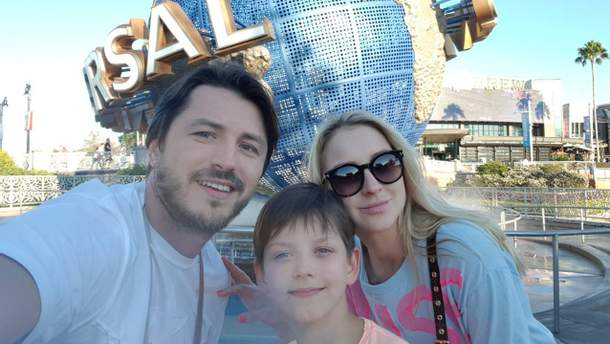 Сергей Притула с семьей