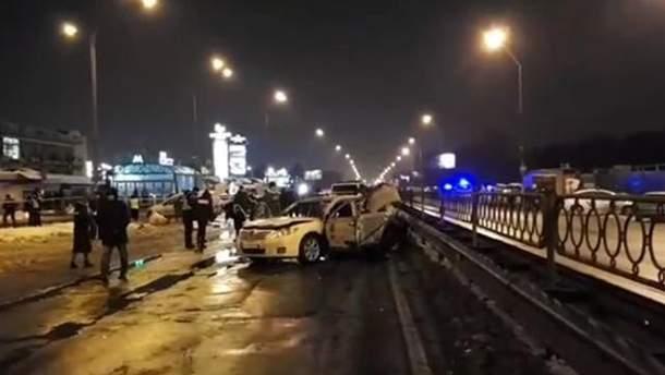 Взрыв авто сотрудников СБУ в Киеве