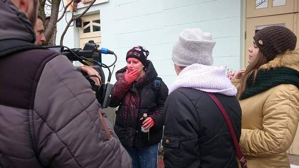 Нападение на участников марша за права женщин в Ужгороде