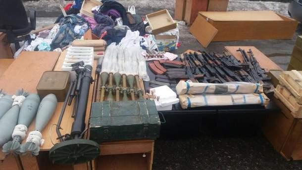 Изъятое при задержании Рубана оружие