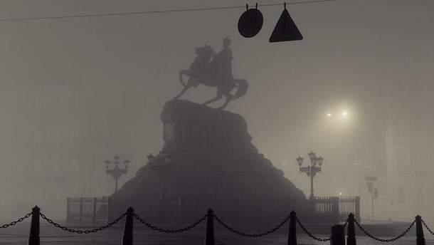 Київ огорнув густий туман