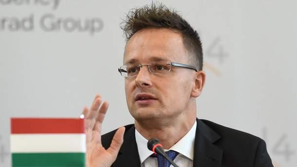 Министр МИД Венгрии Петер Сийярто