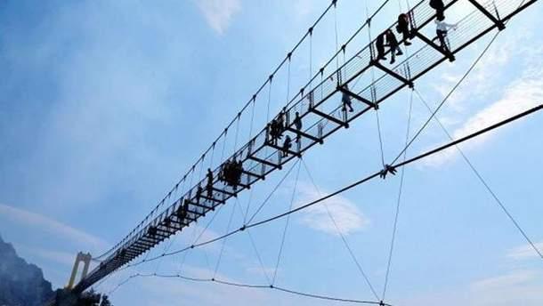 В Китае построили самый высокий в стране стеклянный мост