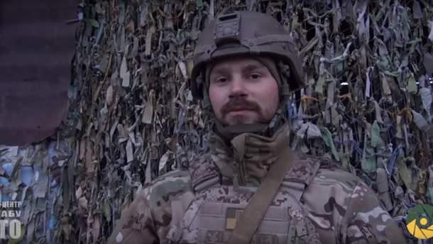 Військовослужбовець Микола, який взяв в полон бойовика