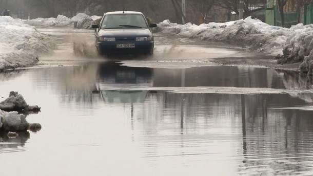 Село на Черкащині перетворюється на озеро