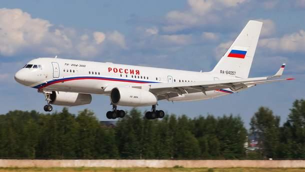 Російський літак із кортежу Путіна таємно прибув до Сирії